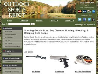 Outdoor Sports Depot after Website Redesign