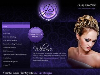 Hair Stylist Website Design | Salon Web Design