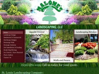 St. Louis Landscaping Company - Landscaping Website Design