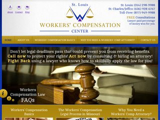 Workers Compensation Attorney Website Redesign