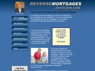 Tucson Reverse Mortgage Company Before Redesign