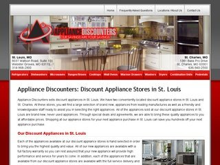 The Appliance Discounters after Website Redesign