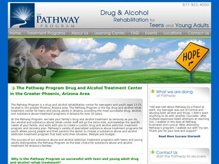 Drug Treatment Program Before Website Redesign
