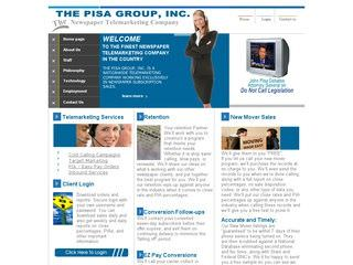 The Pisa Group Before Website Redesign