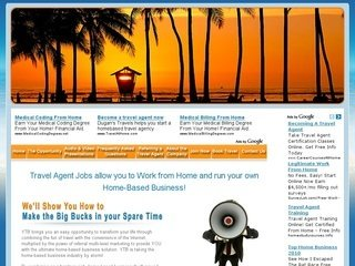 Travel Agent Jobs allow you to Work from Home and run your own Home-Based Business!