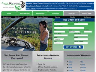 Extended Auto Warranty Website Design Services