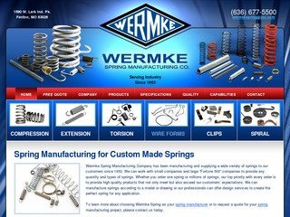 Wermke Spring Manufacturing After Website Redesign