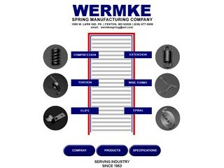 Wermke Spring Manufacturing Before Website Redesign