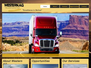Trucking Website Before Website Redesign