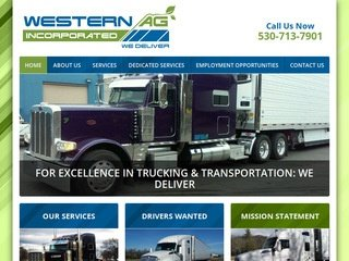Trucking Website After Redesign